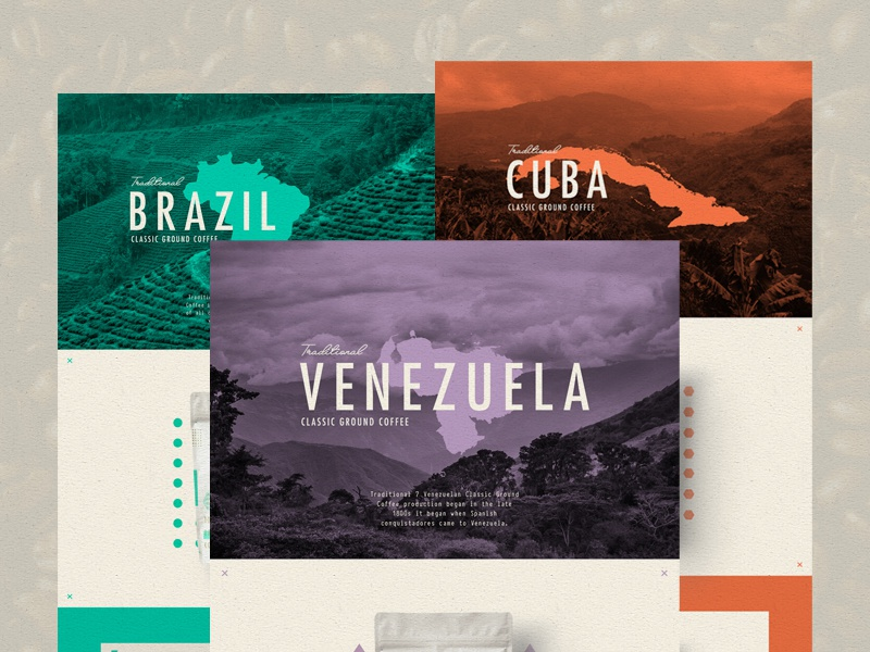 ∆ Traditional 7 Coffee | Hero Pages ∆ coffee type packaging website ui texture branding logo layout