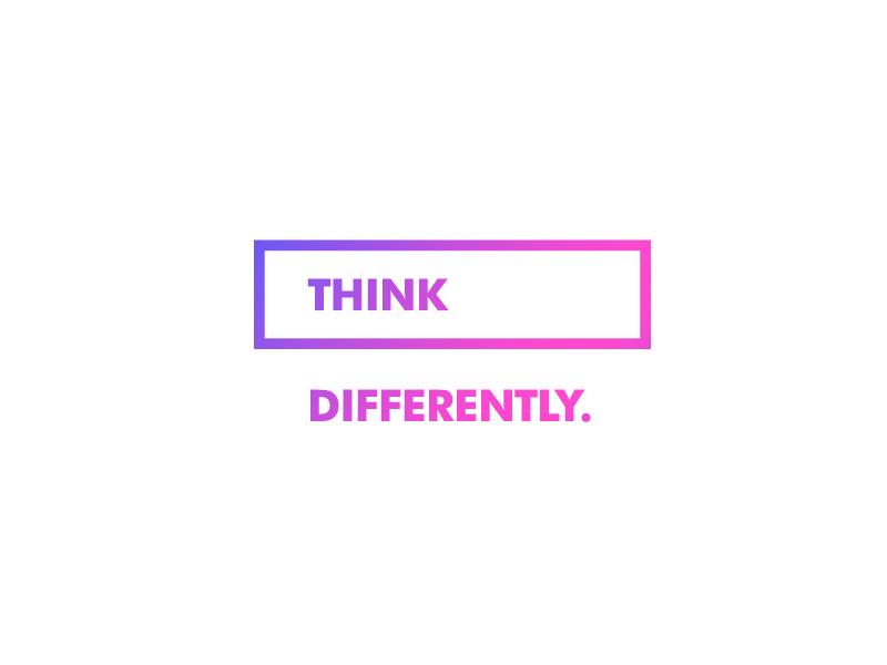 ∆ THINK DIFFERENTLY. ∆ branding designer motivation slogan creative type logomark logo
