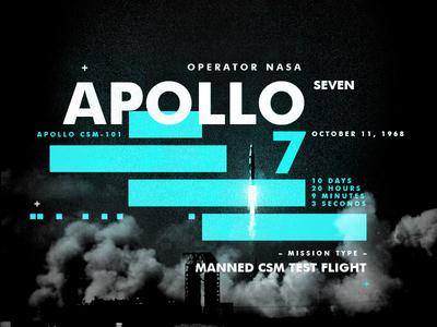 Apollo7 nasa space type apollo design texture layout spacetravel
