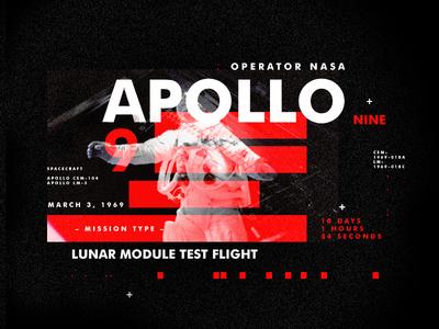 Apollo 9 spacetravel layout texture design apollo type space nasa