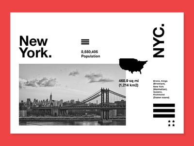 New York. type mono photograhy layout ux ui usa nyc new york