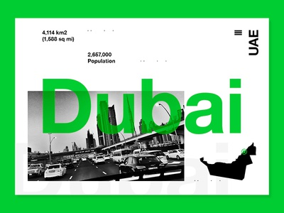 Dubai travel photo type mono photograhy layout ux ui web uae dubai
