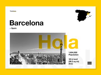 Hola Barcelona travel photo type mono photography layout ux ui web barcelona spain