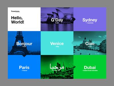 Hello, World!   Menu color branding web ui ux layout photography mono type photo travel