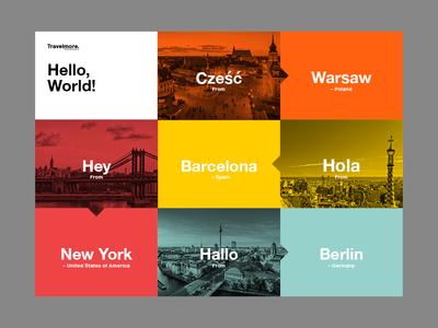 Hello, World!   Menu 2 travel photo type mono photography layout ux ui web branding color