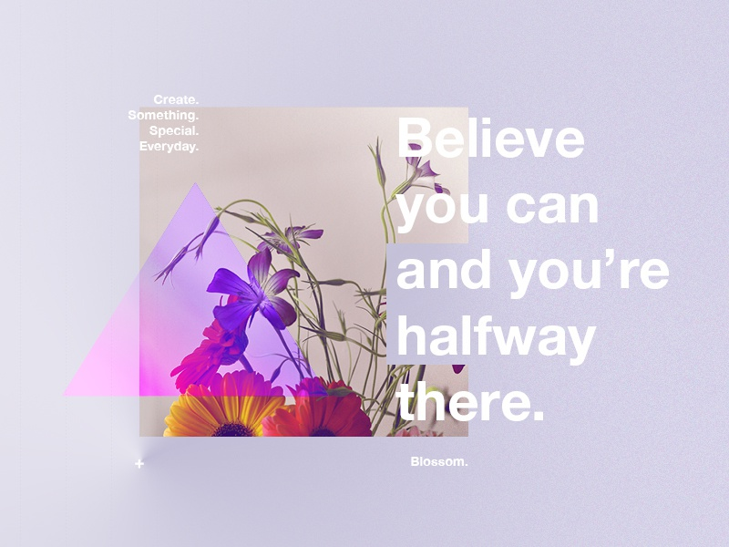 BYCAYHT. positive quote style branding vector colours logo photography swiss flowers