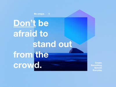 Be Unique. sea island photography logo colours vector branding style quote positive