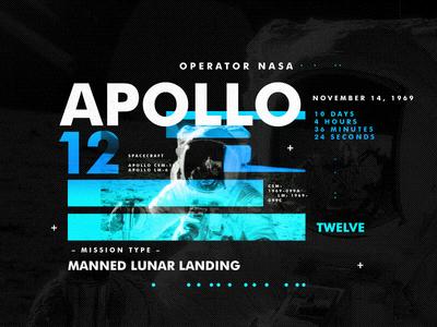 Apollo 12 nasa space type apollo design texture layout spacetravel