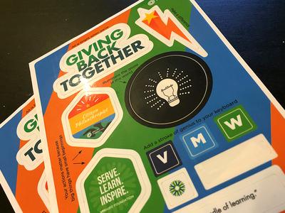 Giving Back Together - Sticker Set
