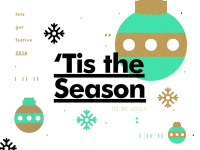 'Tis the Season festive gold color layout type texture christmas creative typography design