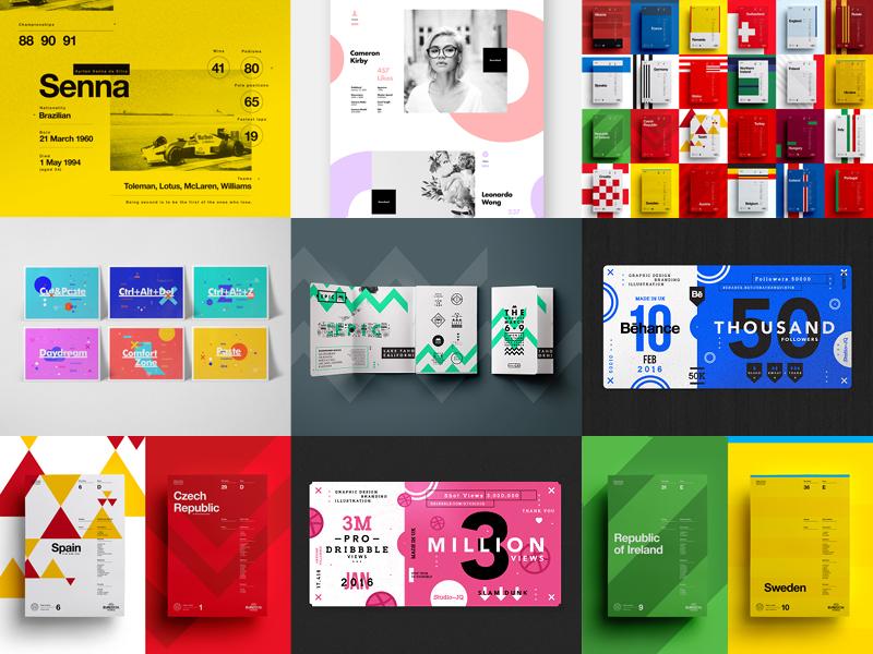 Best Nine of 2016 behance 2016 branding ui poster studio design dribbble