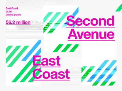 East Coast - Brand exploration brand branding identity colour color east coast usa travel