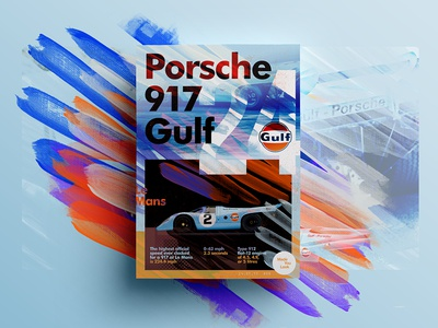 👁Made You Look👁  | 09 | Porsche 917 Gulf creative design type freelance 2017 posters poster porsche car