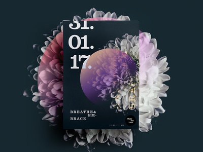 👁Made You Look👁    16   Breathe & Embrace color poster posters 2017 freelance type design creative dribbble flower