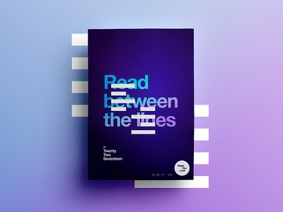👁Made You Look👁    36   Read between the lines monday poster 2017 freelance type typography gradient space