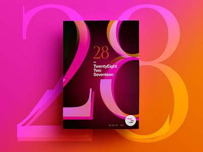 👁Made You Look👁   44   TwentyEight monday type swiss poster 2017 freelance gradient typography quote