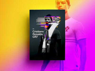 CR7 type branding poster 2017 freelance footballer typography ronaldo