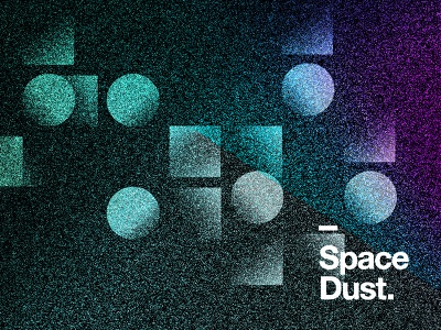 Space Dust. lockup branding effect noise design space