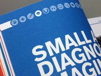 Brochure landed - Icons for a Veterinary college brochure