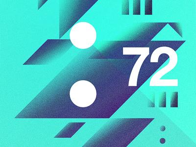 Build 72. postereveryday poster 2017 freelance love 365 typography digital positive adobe indesign