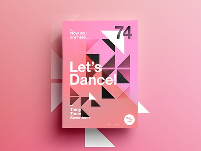 👁Made You Look👁 | 74 | Let's Dance! indesign fitness dance digital typography 365 pink freelance 2017 poster postereveryday