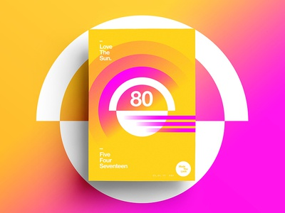 👁Made You Look👁 80 | Love The Sun. indesign motivation happy color typography 365 colour freelance 2017 poster postereveryday