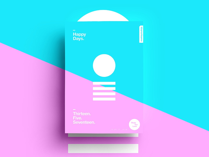 👁Made You Look👁 118   Happy Days. summer design type color typography sexy colour freelance 2017 poster postereveryday