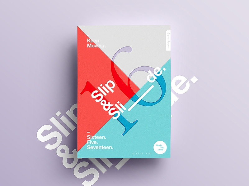 👁Made You Look👁 121 | Slip & Slide. postereveryday poster 2017 freelance colour sexy typography color type design motivation