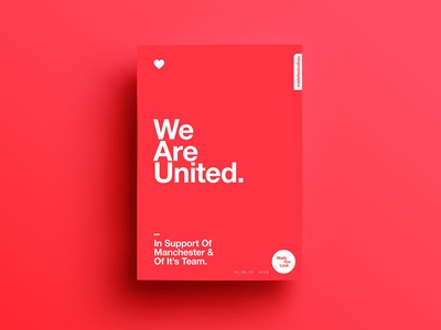 👁Made You Look👁 129 | We Are United. postereveryday poster 2017 freelance colour manchester typography color type design motivation