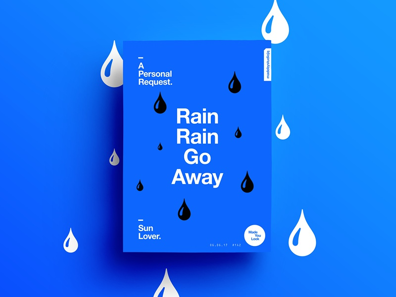 Rain Rain Go Away Coloring Page: Rain Rain Go Away By MadeByStudioJQ