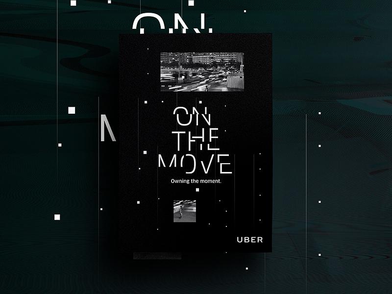Uber Brand Evolution (On The Move) branding brand usa icon illustration uber newyork taxi driver poster