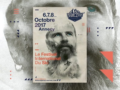 International High Five | Ski Festival photoshop. festival branding design swiss ski poster