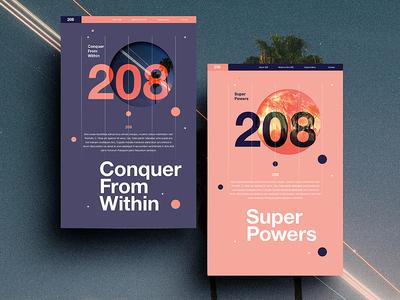 208 | Concept design color typography swiss positive 2017 ui web beautiful webdesign space