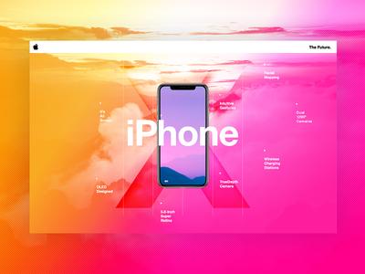 iPhoneX design color typography swiss positive iphone8 ui web beautiful iphonex iphone