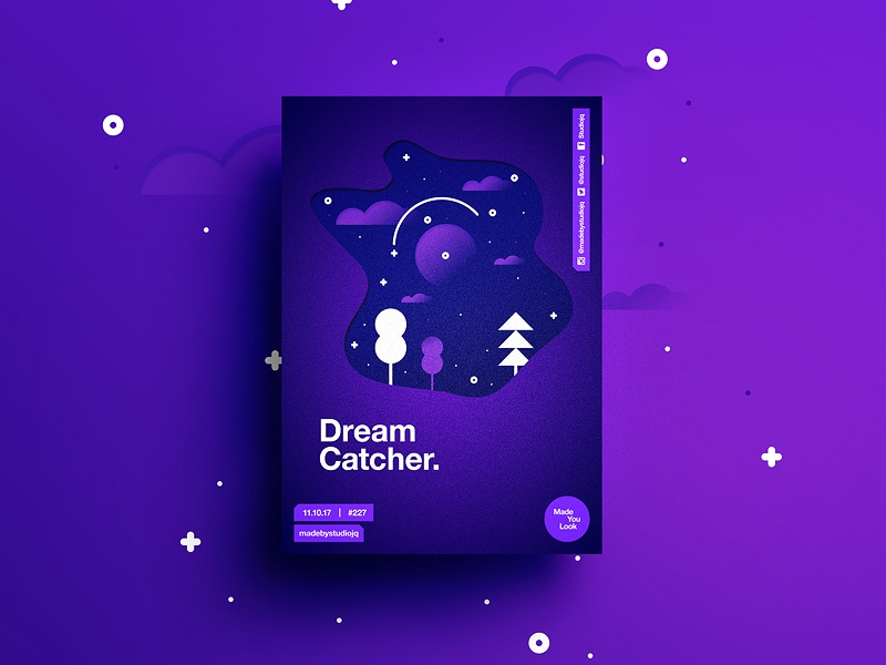 👁Made You Look👁 227 | Dreamcatcher. dream design color typography swiss poster postereveryday beautiful gradient