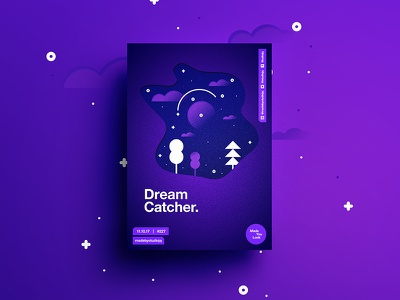 👁Made You Look👁 227   Dreamcatcher. dream design color typography swiss poster postereveryday beautiful gradient