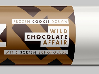 Wild Chocolate Affair chocolate dough cookie icons branding brand packaging stroke