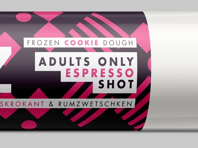 Adults Only Espresso Shot espresso stroke packaging brand branding icons cookie dough chocolate