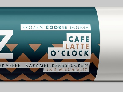 Cafe Latte O'Clock chocolate dough cookie icons branding brand packaging coffee latte
