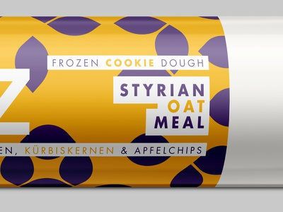 Styrian Oat Meal latte coffee packaging brand branding icons cookie dough chocolate
