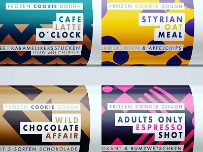 CUTZ Cookie Dough packaging branding illustration dough cookie
