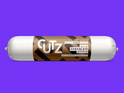 CUTZ   Wild Chocolate Affair chocolate cookie dough illustration branding packaging