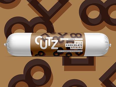CUTZ   Wild Chocolate Affair packaging branding illustration dough cookie chocolate