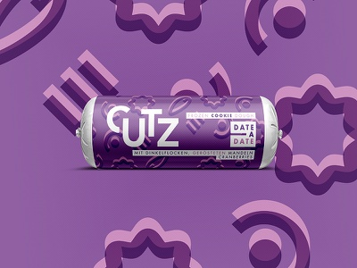 CUTZ   Date A Date chocolate cookie dough illustration branding packaging