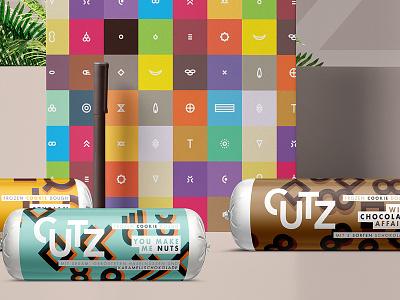 CUTZ   Aficionado Signs packaging branding illustration dough cookie chocolate