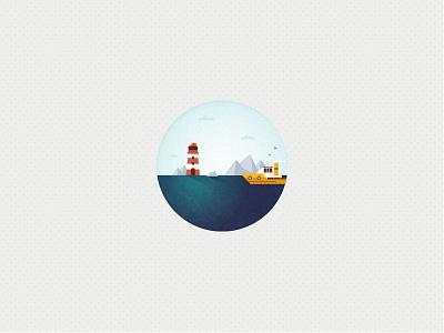 The Big Wide World travel icons illustration
