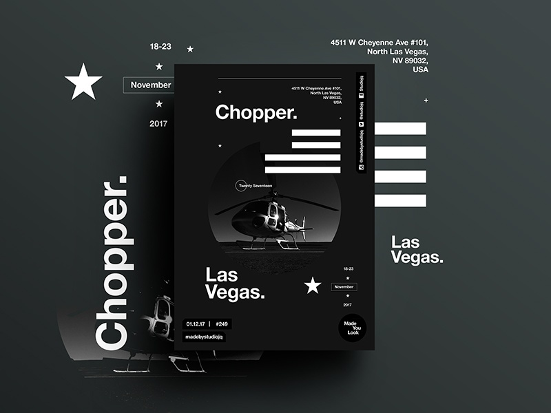 👁Made You Look👁 248 | Chopper. art photography freelance postereveryday poster swiss typography color design vegas