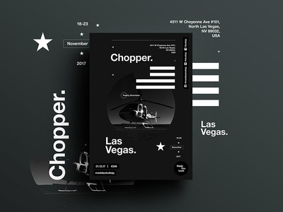 👁Made You Look👁 248   Chopper. art photography freelance postereveryday poster swiss typography color design vegas