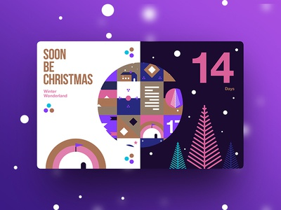 Soon Be Christmas | 14 Days To Go color type design creative christmas new trend ux ui