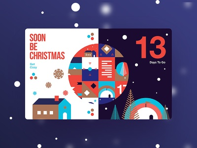 Soon Be Christmas   13 Days To Go ui ux new trend christmas creative design type color